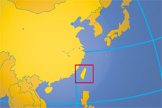 Location map of Taiwan. Where in Asia is Taiwan?
