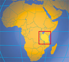Location map of Tanzania. Where in Africa is Tanzania?