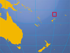 Location map of Tuvalu. Where in the South Pacific is Tuvalu?