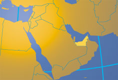Location map of the United Arab Emirates. Where in the world are the United Arab Emirates?