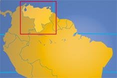 Location map of Venezuela. Where in South America is Venezuela?