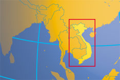 Location map of Vietnam. Where in Asia is Vietnam