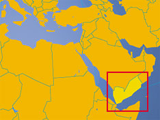 Location map of Yemen. Where in the Middle East is Yemen?