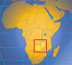 Location map of Zambia. Where in Africa is Zambia?
