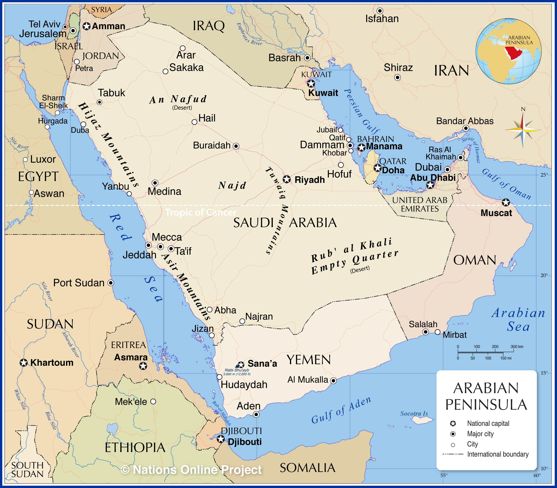 Picture of: Political Map Of The Arabian Peninsula Nations Online Project