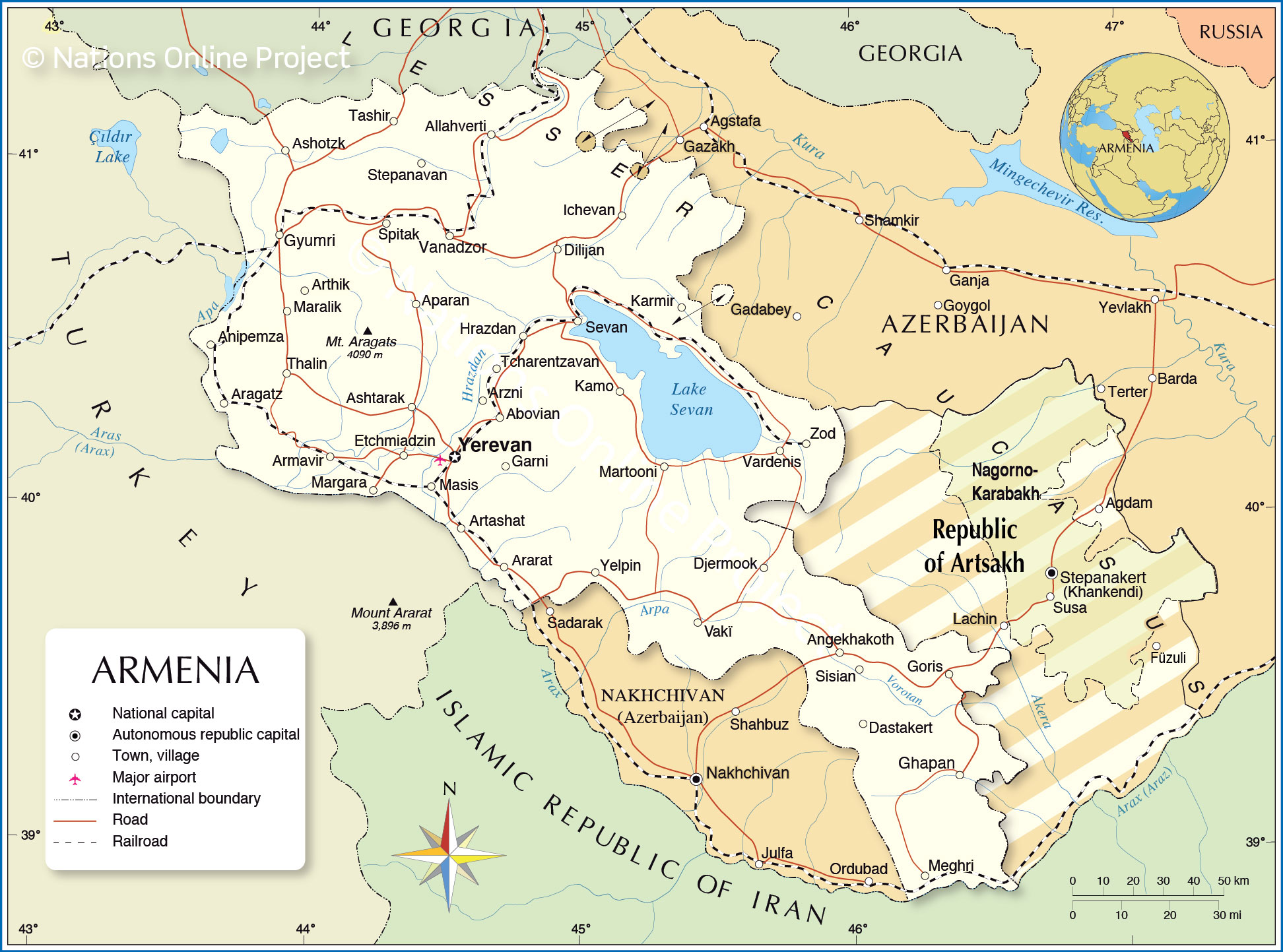 Picture of: Political Map Of Armenia Nations Online Project