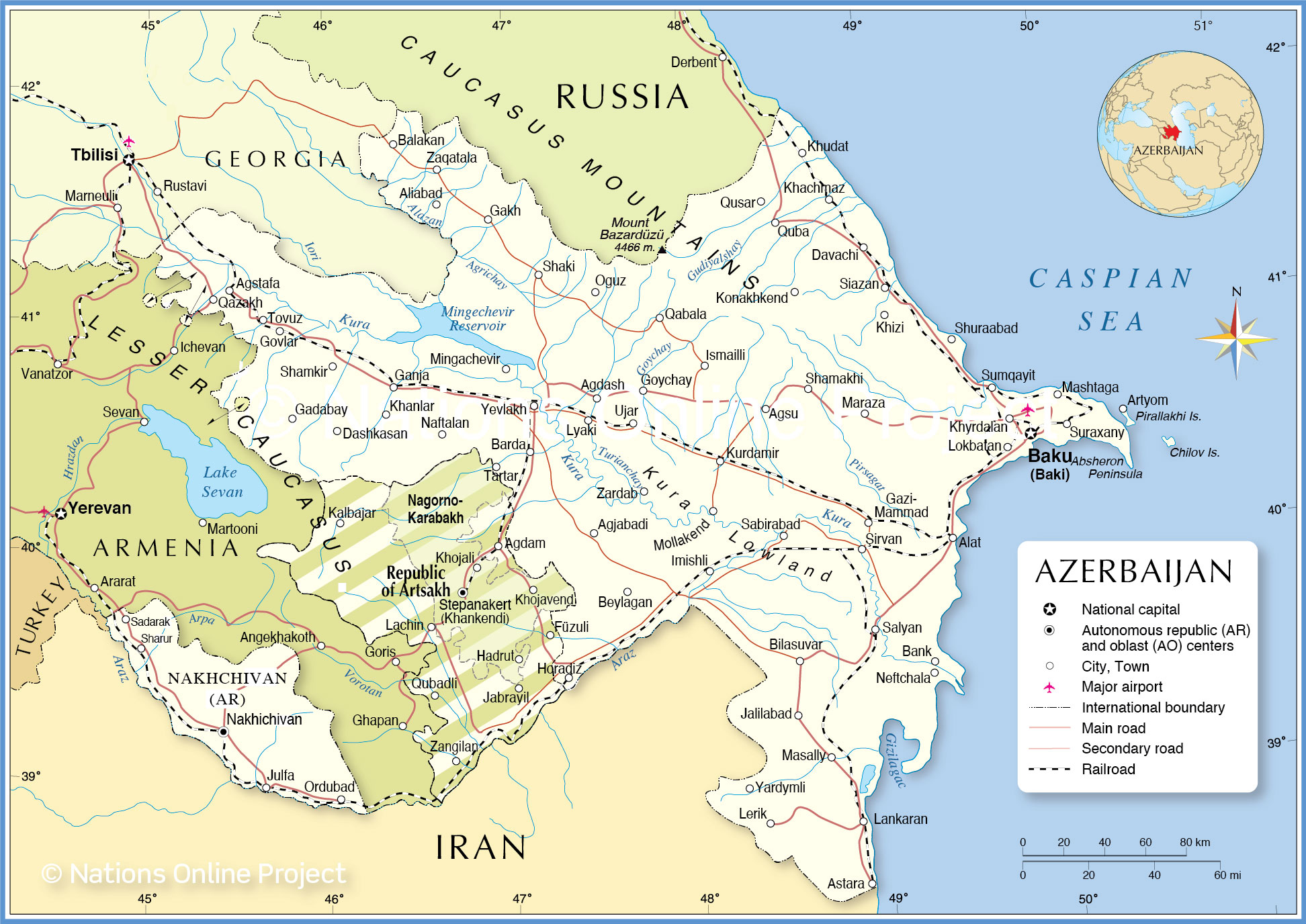 Picture of: Political Map Of Azerbaijan Nations Online Project
