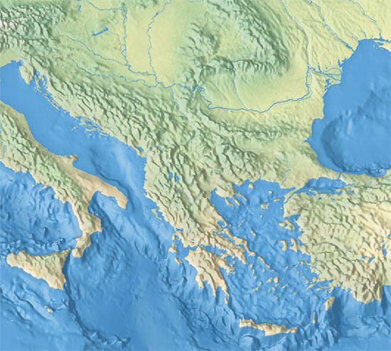 Political map of the balkan peninsula nations online project all countries of the world balkan peninsula topographical map view gumiabroncs