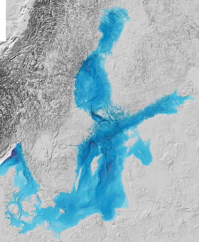 Map of the baltic sea region nations online project bathymetry of the baltic sea publicscrutiny Choice Image
