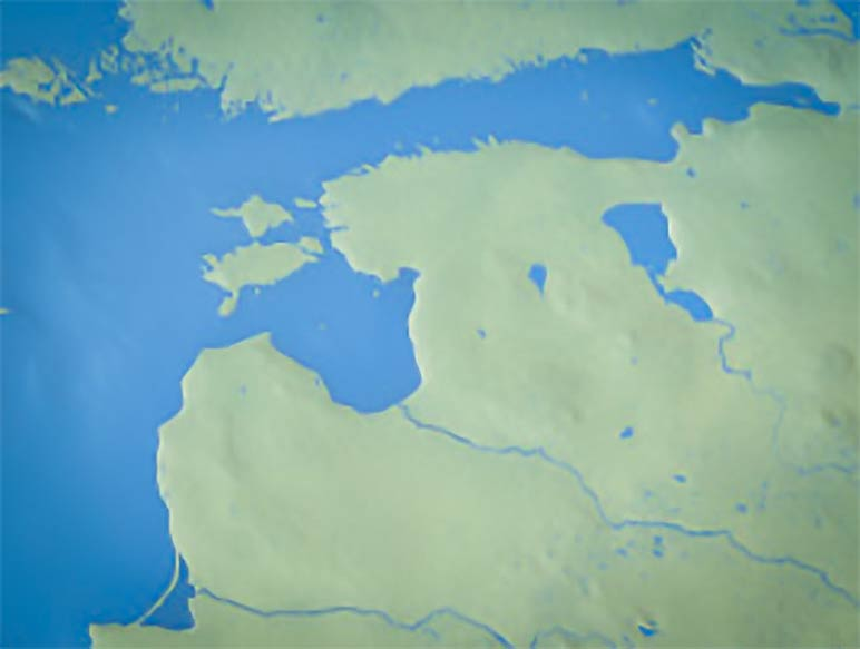 Map of the Baltic States - Nations Online Project