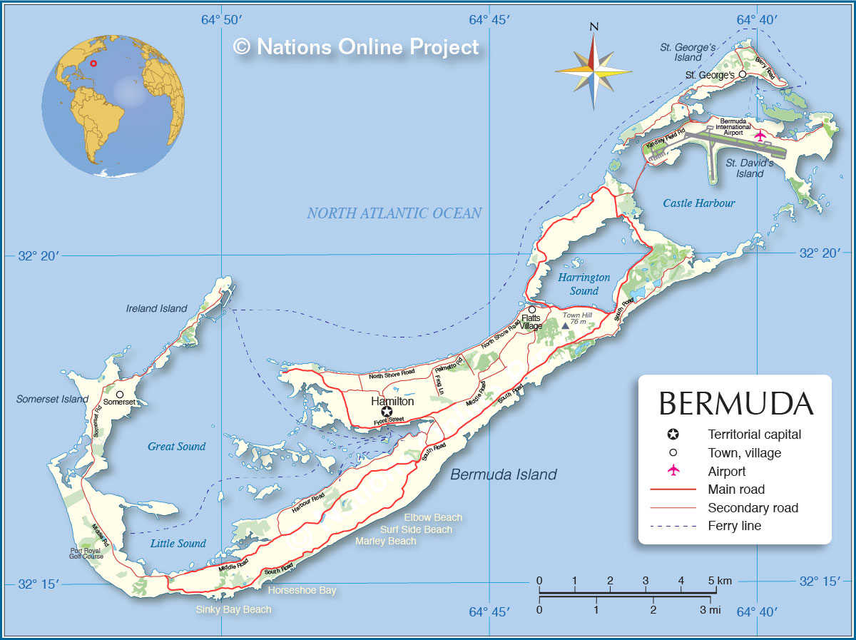 Political Map of Bermuda - Nations Online Project