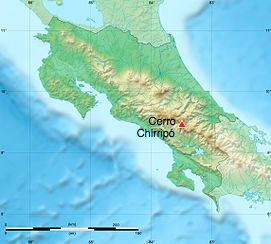 Costa Rica relief map