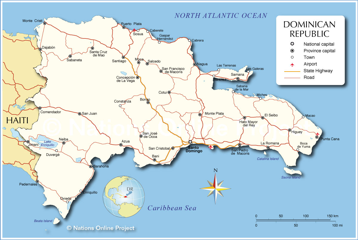 Administrative Map of Dominican Republic - Nations Online Project MAP OF DOMINICAN REPUBLIC