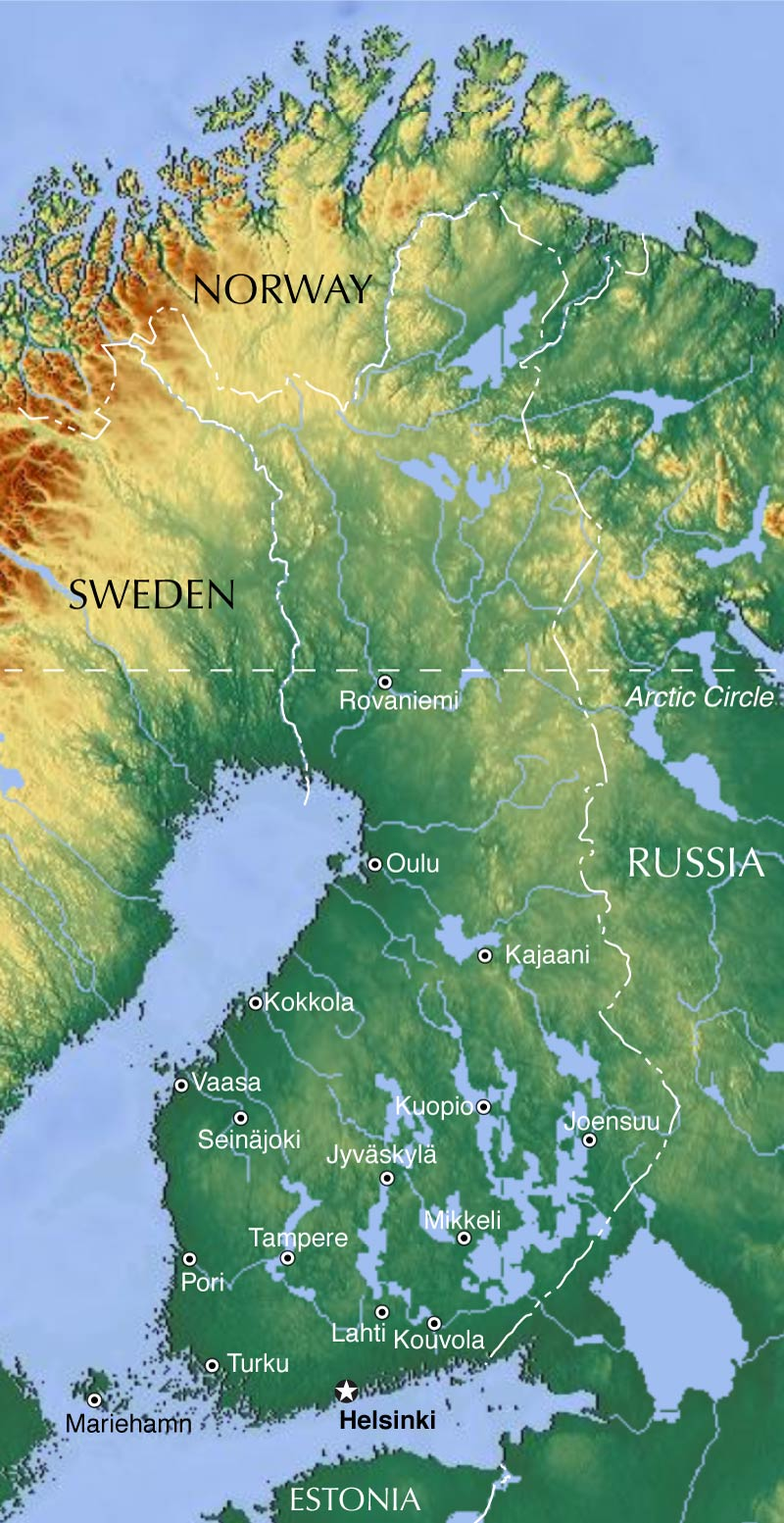 Map Of Finland Nations Online Project