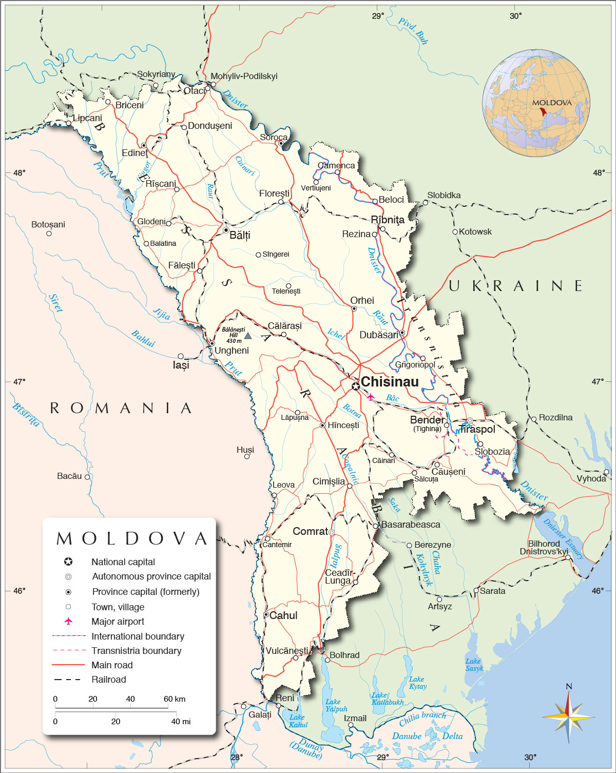 Political Map of Moldova Nations Online Project