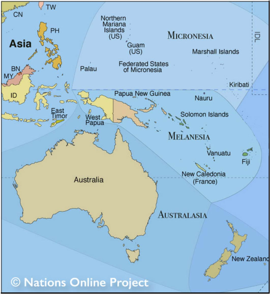 Capital Cities Of Australia Oceania Nations Online Project