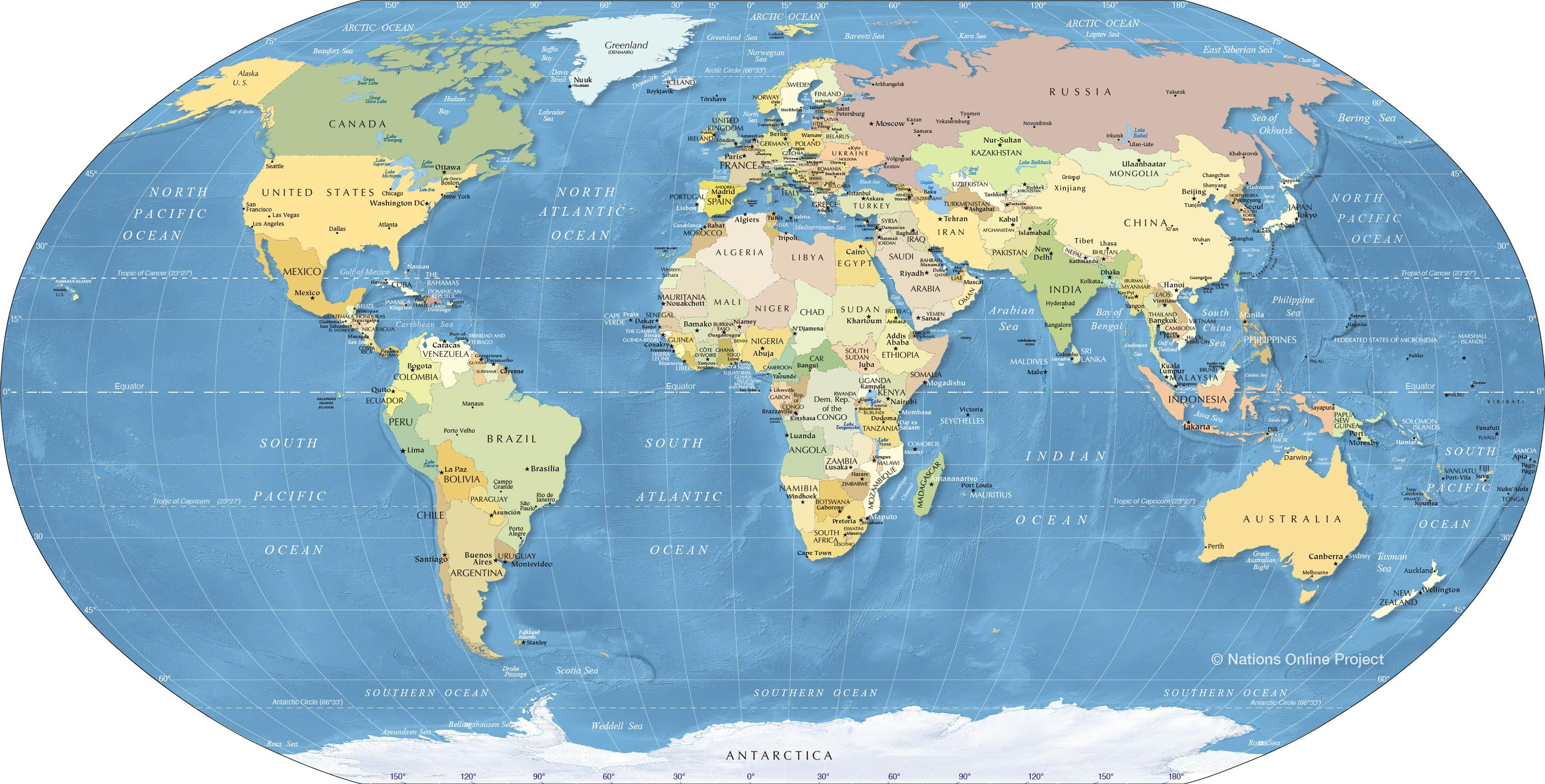 Picture of: World Map Political Map Of The World Nations Online Project