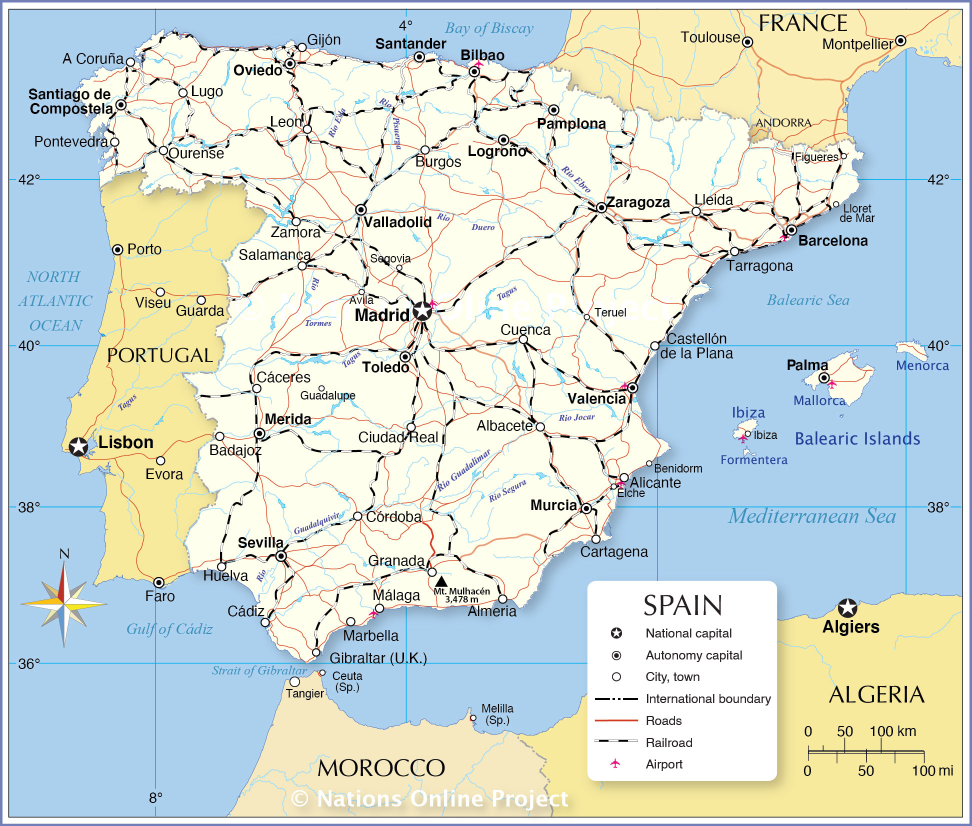 Image of: Political Map Of Spain Nations Online Project