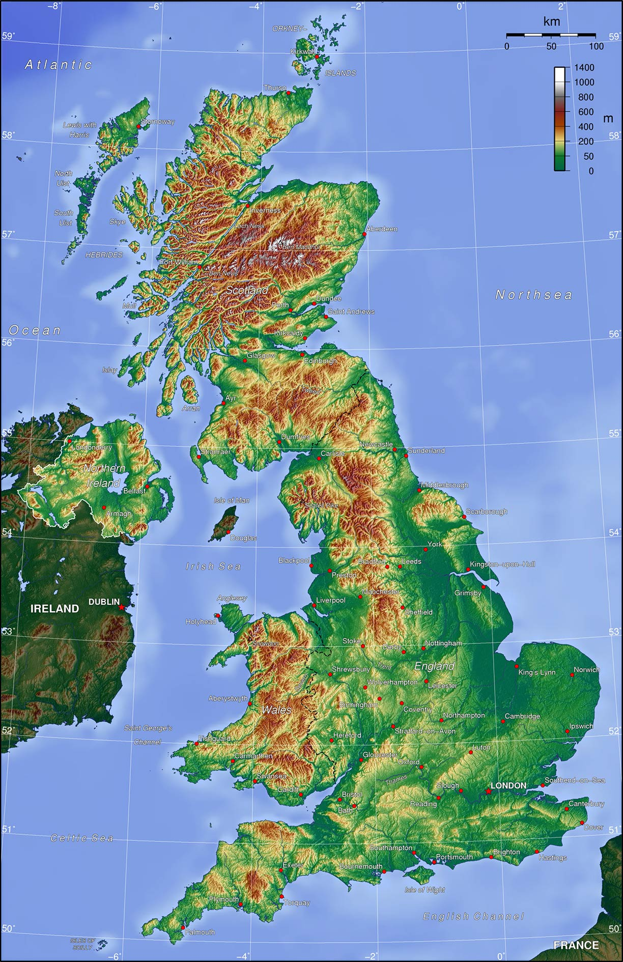 Political Map of United Kingdom - Nations Online Project on on a physical map english channel, rise of flight channel, body of the central channel,