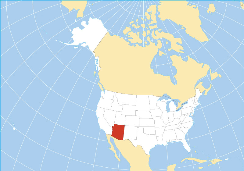 Reference Maps of Arizona USA Nations Online Project