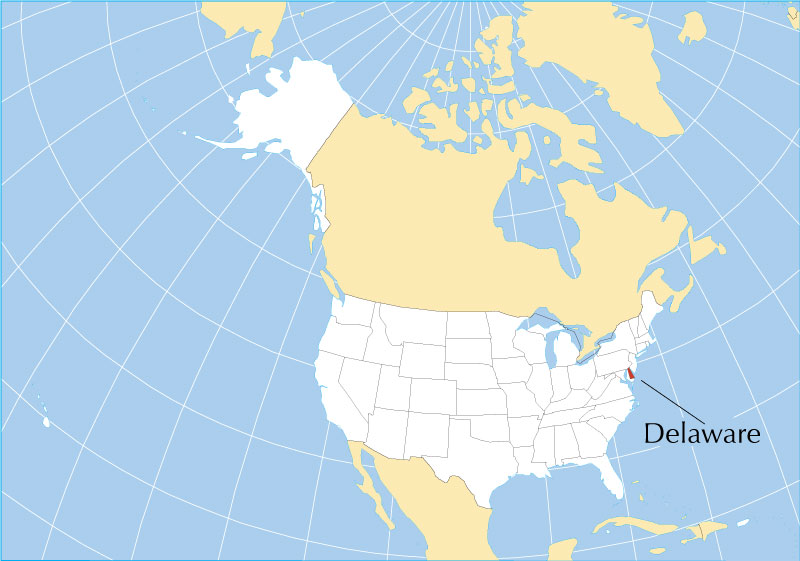 Reference Maps Of Delaware Usa Nations Online Project - Delaware-on-a-us-map