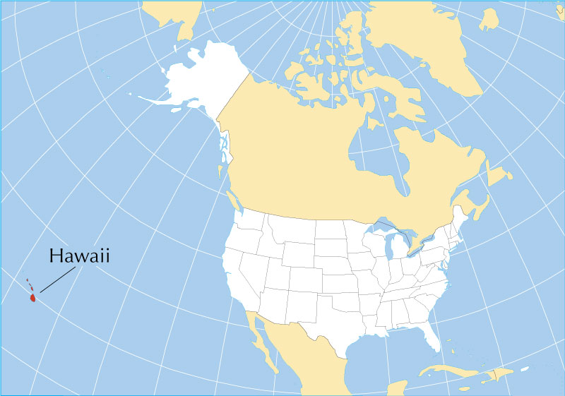 Reference Maps of Hawaii, USA   Nations Online Project