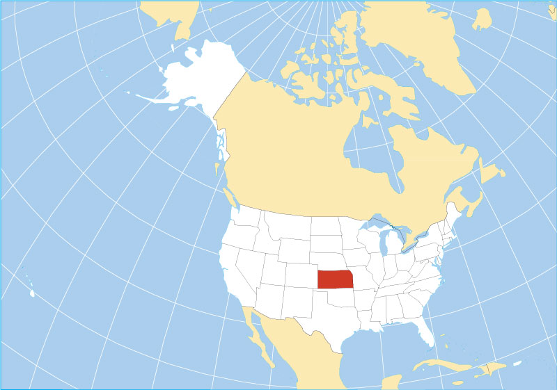 Where Is Kansas On The Us Map Map of the State of Kansas, USA   Nations Online Project