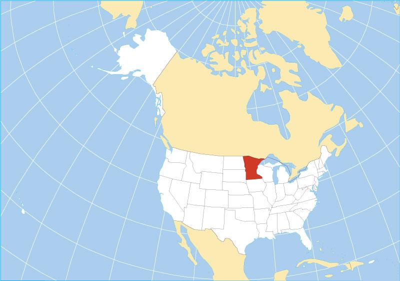 location map of minnesota state usa