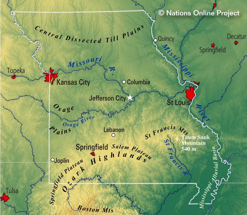 map of misssouri gallery