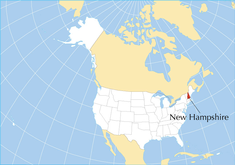 New Hampshire On Map Of Usa.Reference Maps Of New Hampshire Usa Nations Online Project