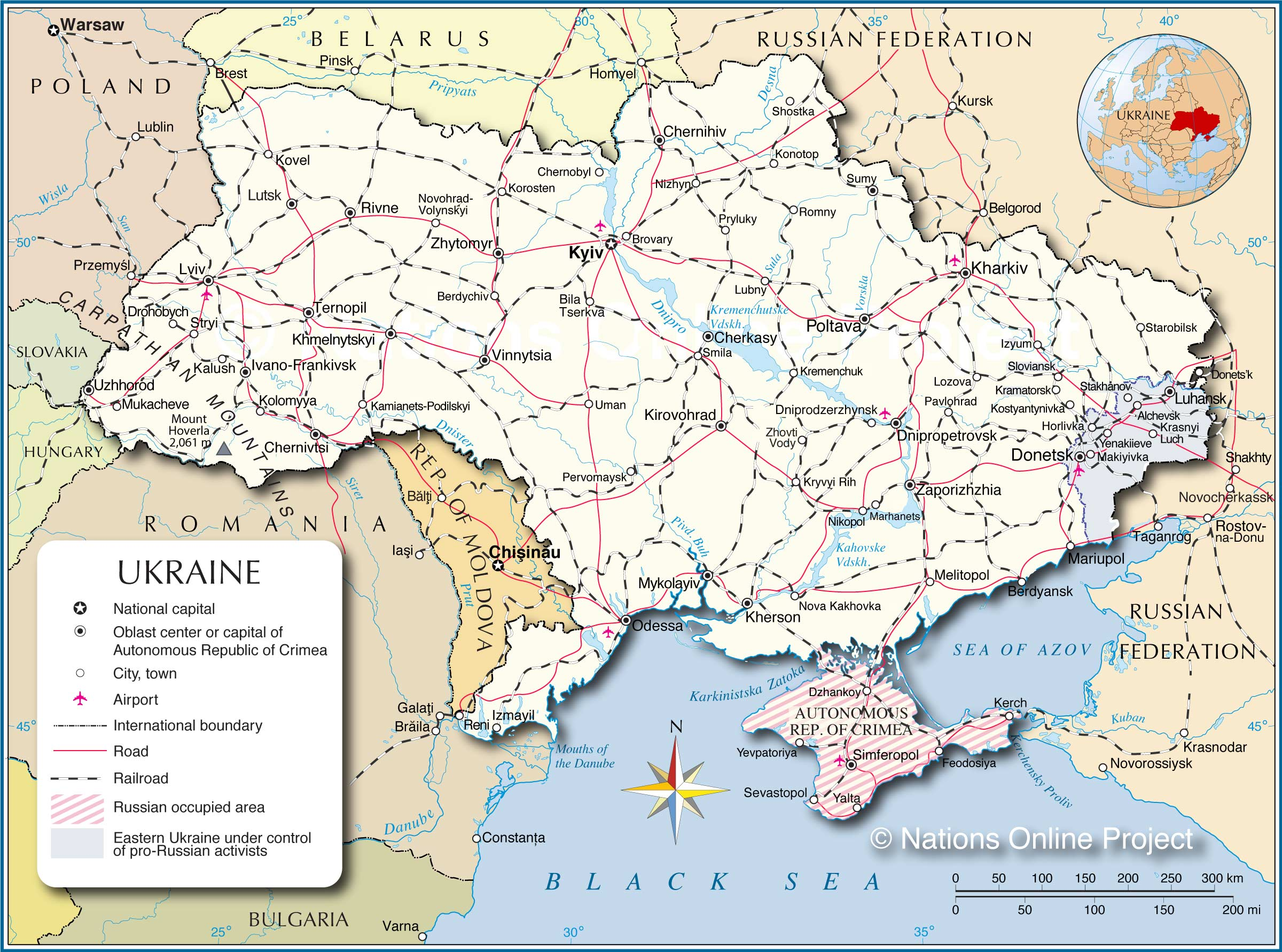 Political Map Of Ukraine Nations Online Project