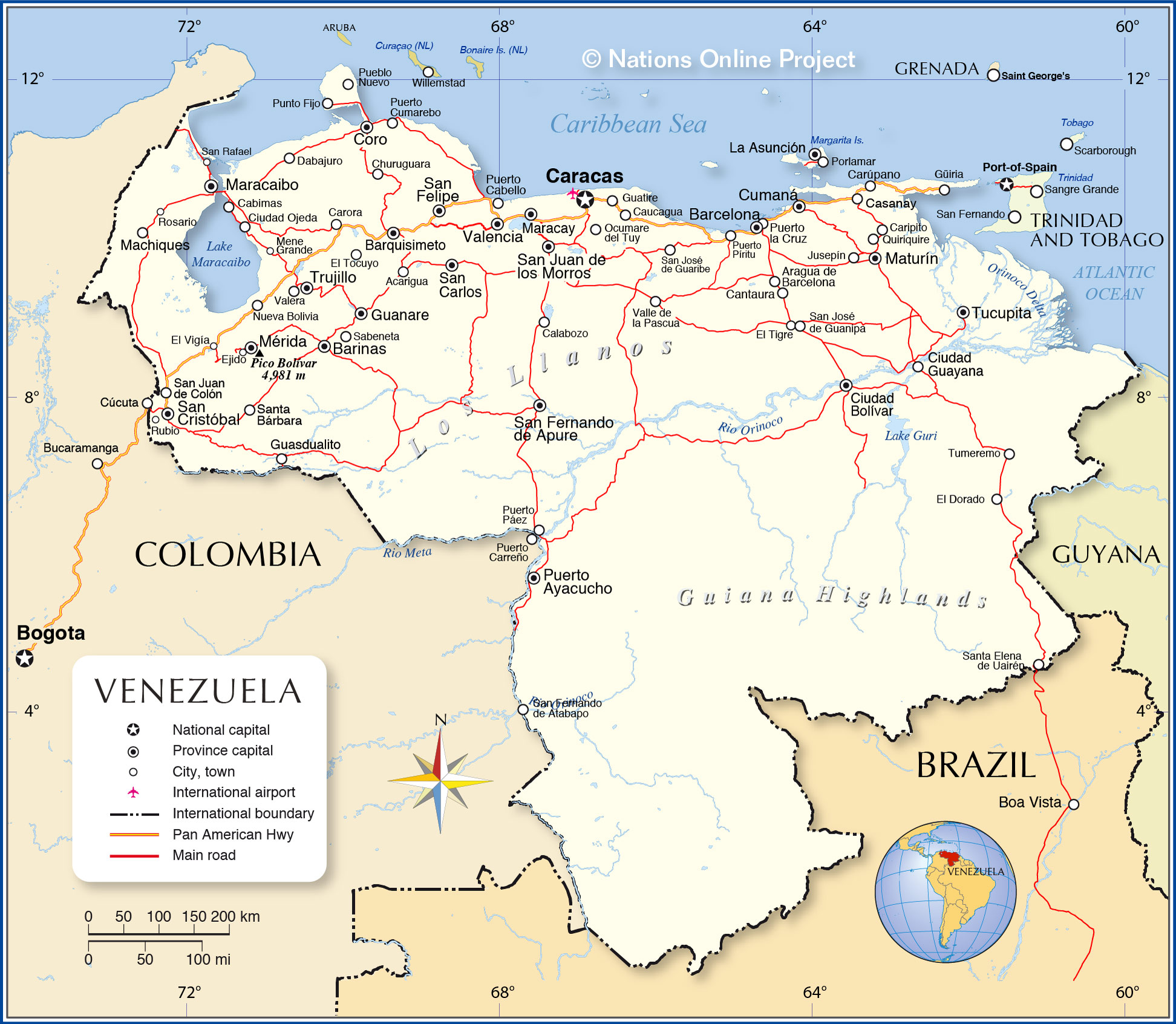 Detailed Map of Venezuela Nations Online Project