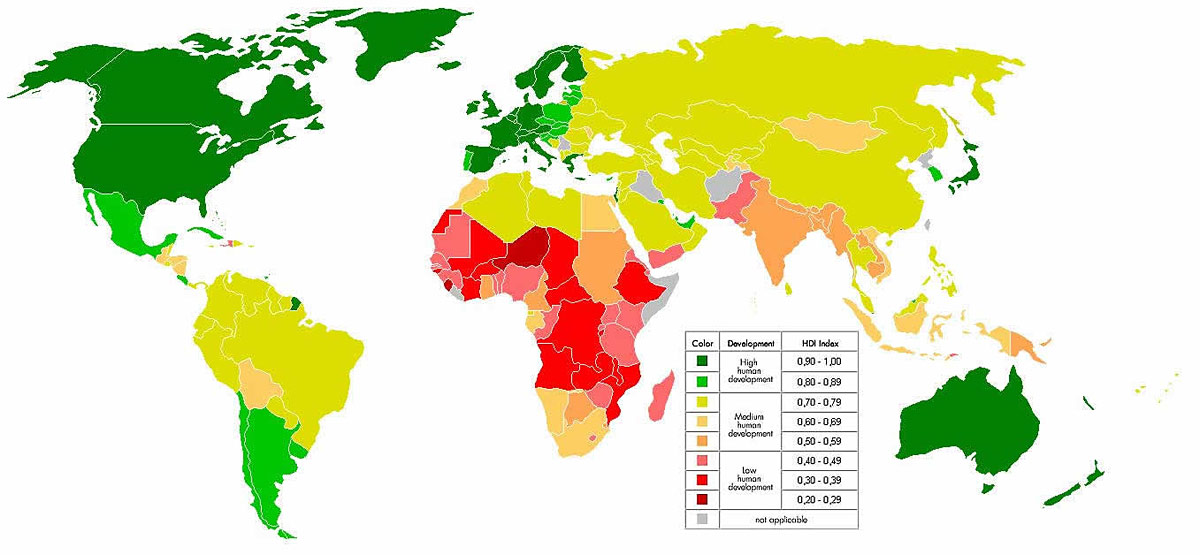 Human Development Index Countries With Low Human Development - 20 poorest countries in the world