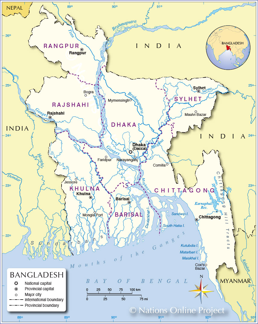 Political Map Of Bangladesh