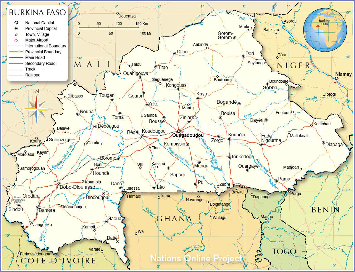 Political Map of Burkina Faso - Nations Online Project
