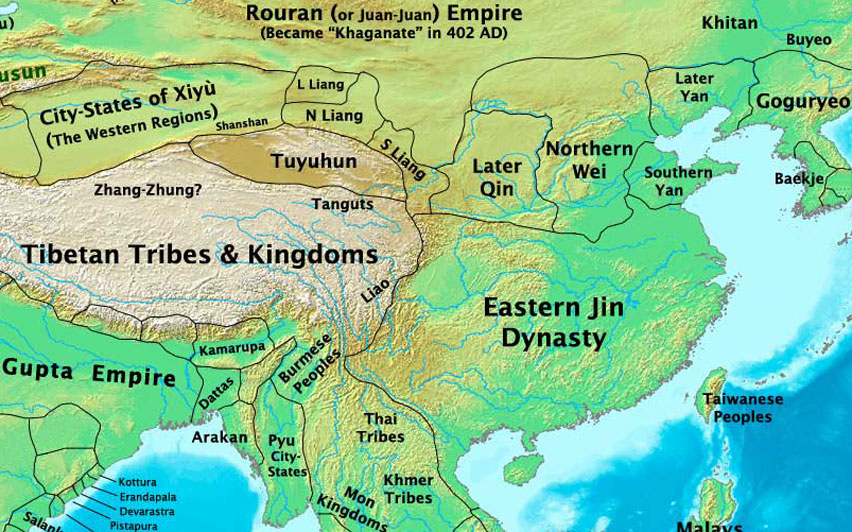 China, Eastern Jin Dynasty Map, 400 AD - Nations Online Project