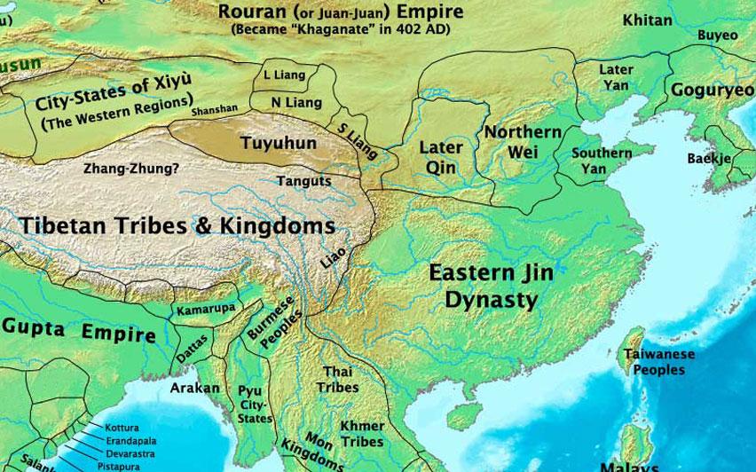 eastern jin dynasty dynasty map