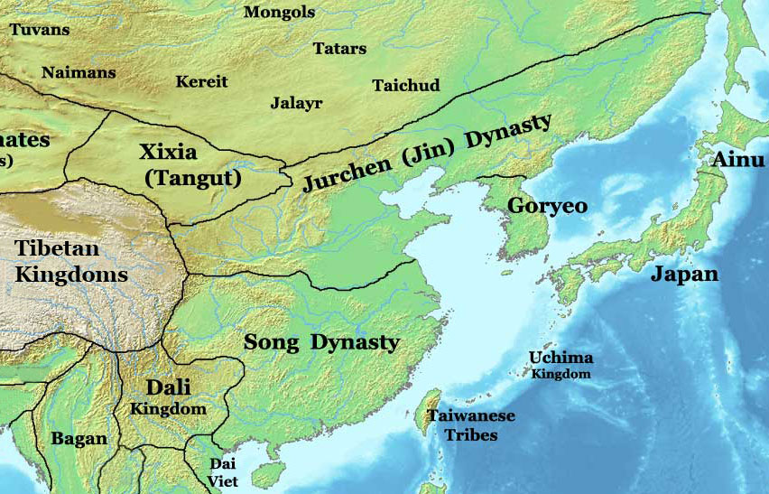 Jin and southern song dynasties map china 1200 ad nations jin and southern song dynasties map sciox Image collections