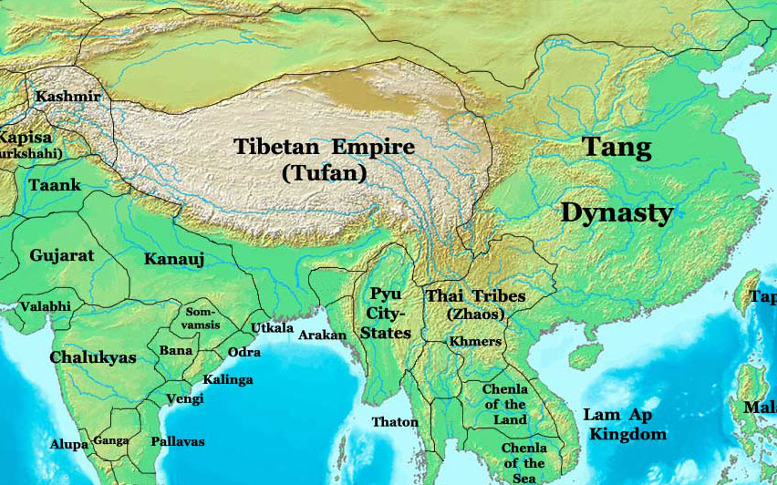 Tang Dynasty Map Tang Dynasty Map, China, 700 AD   Nations Online Project Tang Dynasty Map