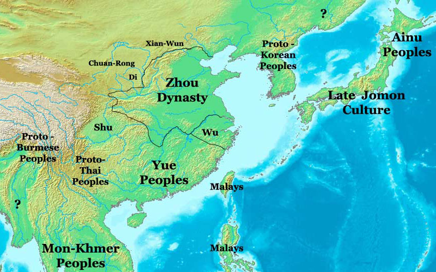 Zhou Dynasty Map, China 1000 BC - Nations Online Project on