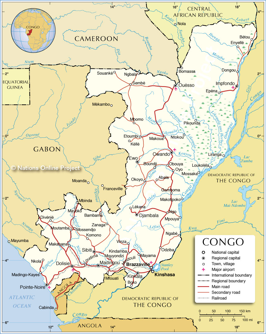 map of republic of the congo