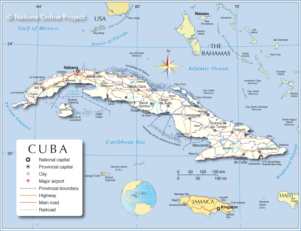 Administrative Map of Cuba Nations Online Project