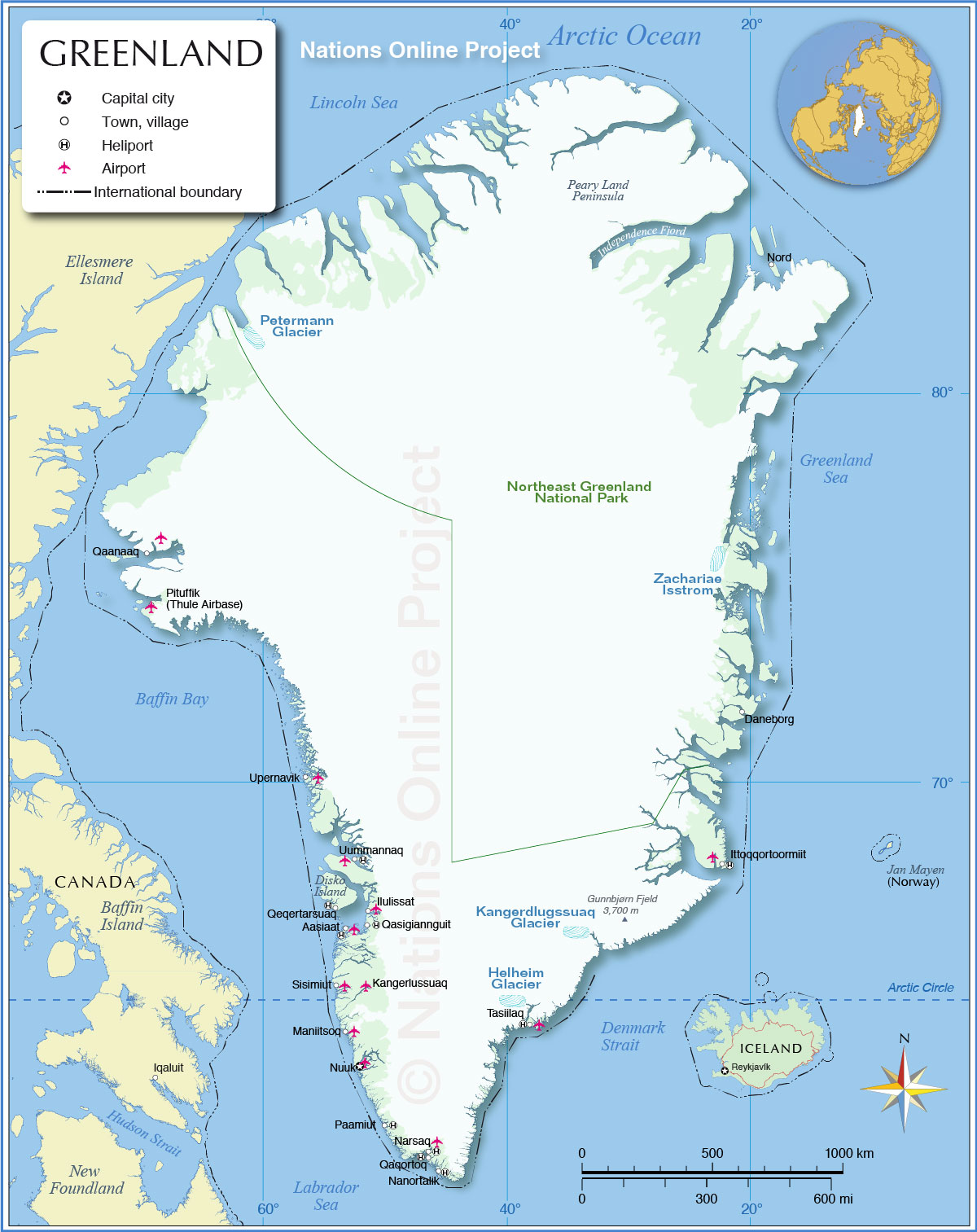 Map of greenland nations online project map of greenland gumiabroncs Gallery