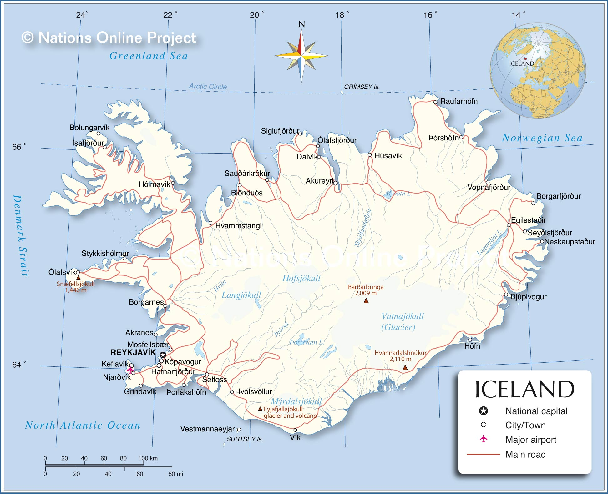 Reference Map of Iceland