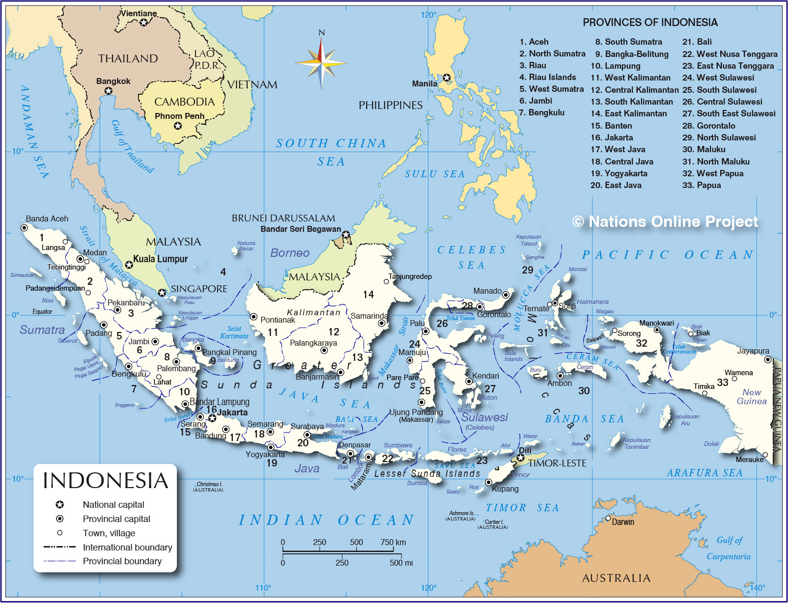 administrative map of indonesia provinces of indonesia administrative