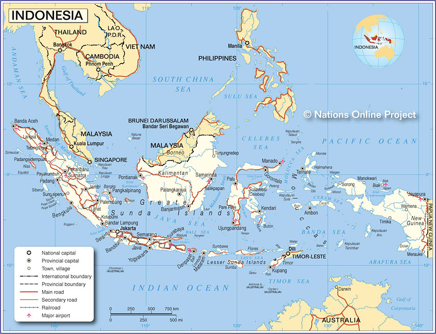 small map of indonesia