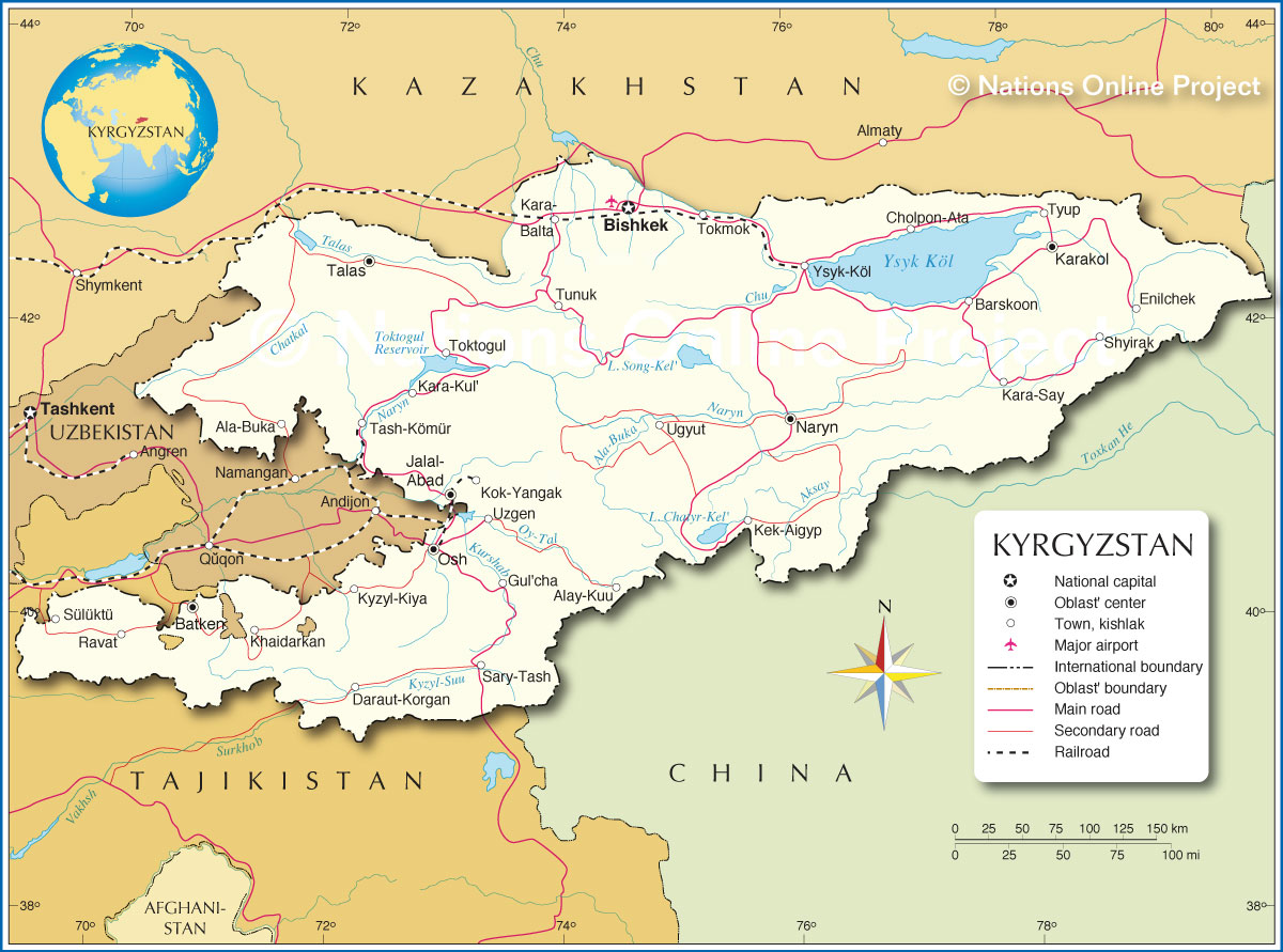 Political Map of Kyrgyzstan - Nations Online Project