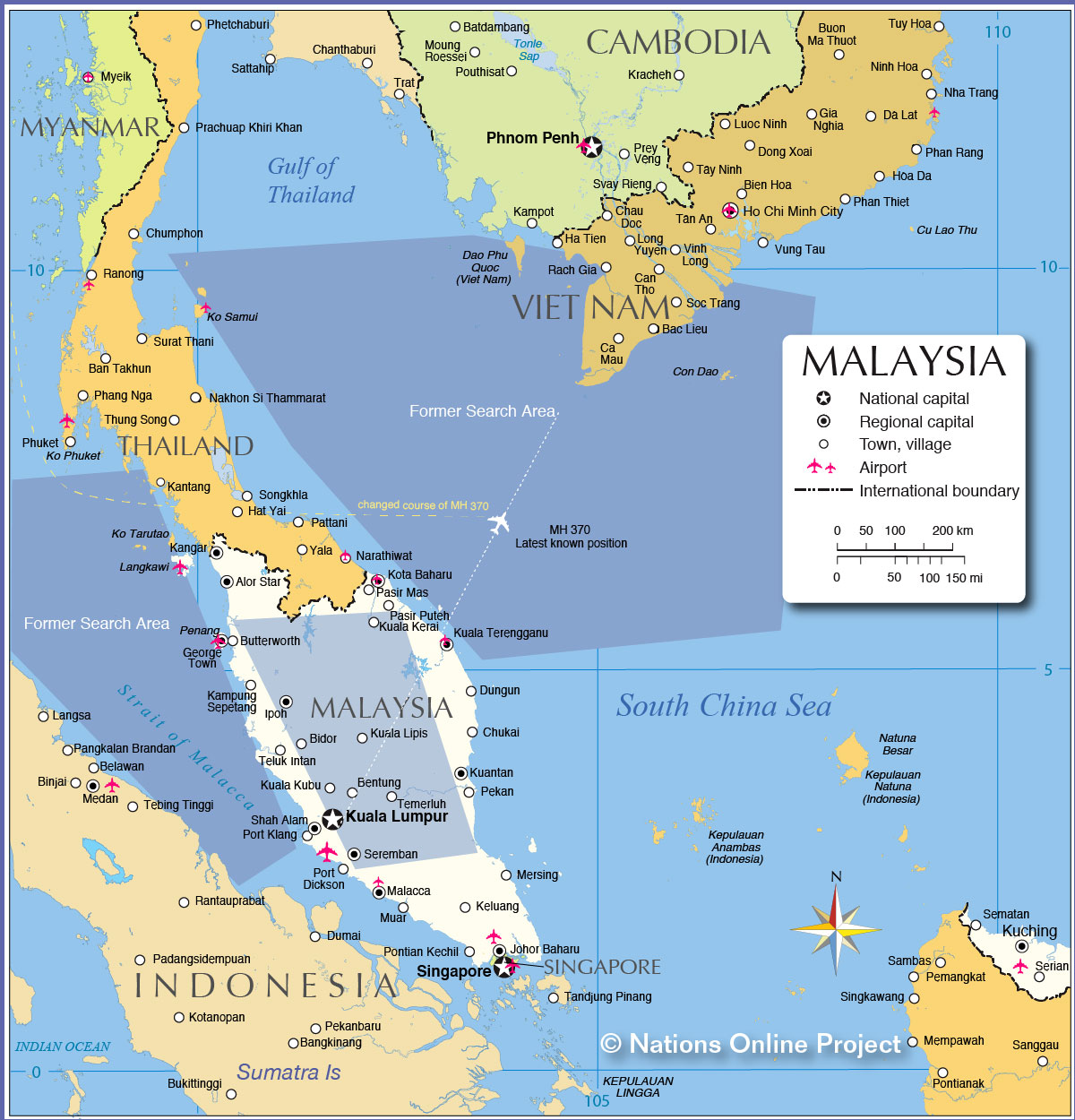 Malaysia On World Map Map: Maps Of Peninsular Malaysia And