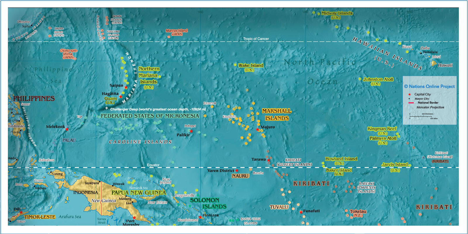 Reference Map of Micronesia