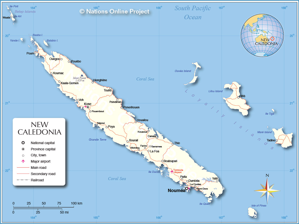Political Map of New Caledonia Nations Online Project